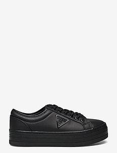 BHANIA - låga sneakers - black/black