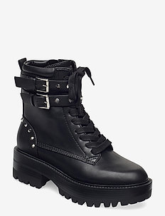 FLORICE/STIVALETTO (BOOTIE)/LE - platte enkellaarsjes - black