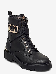 ORANA/STIVALETTO (BOOTIE)/LEAT - flat ankle boots - black gold