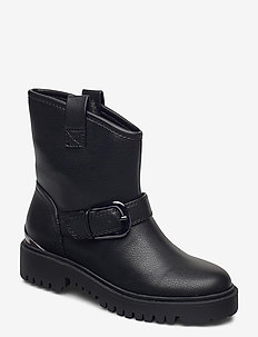 ORICAN/STIVALETTO (BOOTIE)/LEA - platte enkellaarsjes - black