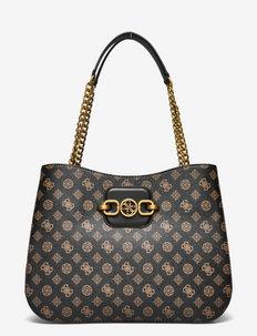 HENSELY LOGO GIRLFRIEND TOTE - handväskor - mocha multi