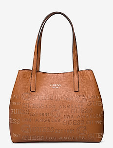 VIKKY TOTE - casual shoppers - cognac