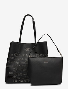 VIKKY LARGE TOTE - fashion shoppers - black
