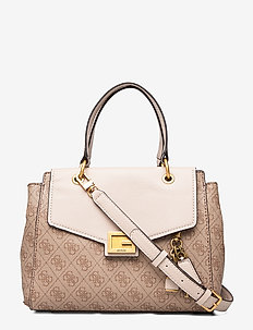 VALY SMALL GIRLFRIEND SATCHEL - top handle tasker - latte