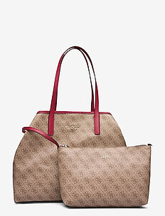 VIKKY LARGE TOTE - BROWN