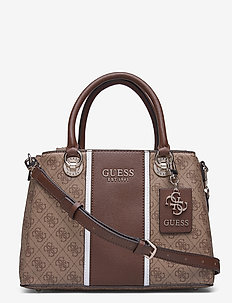 CATHLEEN 3 COMPARTMENT SATCHEL - sacs a main - brown