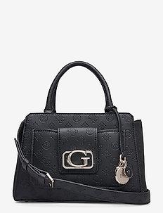 EMILIA STATUS SATCHEL - handbags - black