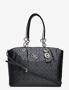 CHIC SHINE TOTE - fashion shoppers - black