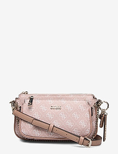 ARIE DOUBLE POUCH CROSSBODY - skuldertasker - rose