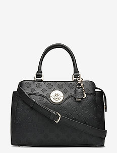 DAYANE TRIPLE CMPRTMNT SATCHEL - top handle tasker - black