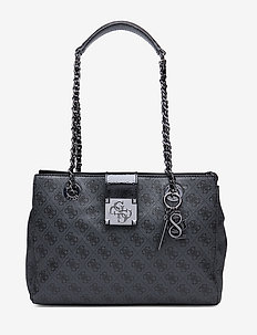 LOGO CITY LUXURY SATCHEL - COAL