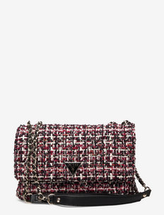 CESSILY CONVERTIBLE XBODY FLAP - crossbody bags - beet red multi
