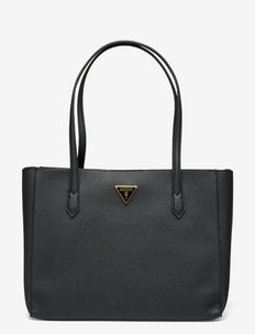 DOWNTOWN CHIC TURNLOCK TOTE - shoppere - black