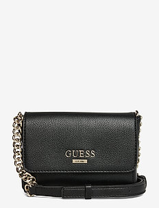 ALMA MINI CROSSBODY FLAP - BLACK