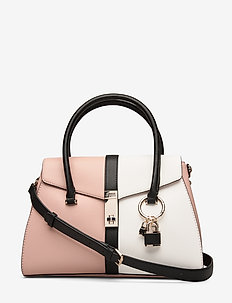 ASHER FLAP SATCHEL - ROSE MULTI