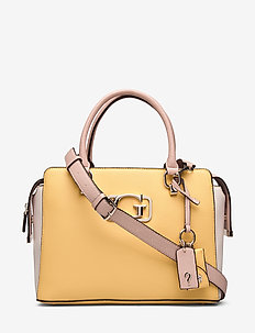 ANNARITA GIRLFRIEND SATCHEL - top-handle - yellow multi