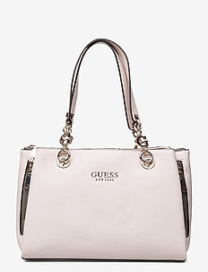 G CHAIN GIRLFRIEND SATCHEL - handbags - stone
