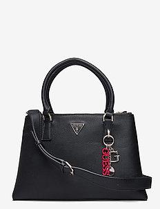 BECCA STATUS SATCHEL - handbags - black