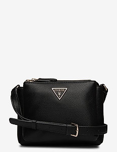 BECCA DOUBLE ZIP CROSSBODY - torby na ramię - black