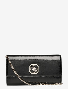 WALK OF FAME CROSSBODY CLUTCH - kirjekuorilaukut - black