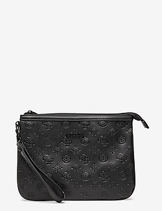ANNABEL FLAT TOP ZIP - clutches - black