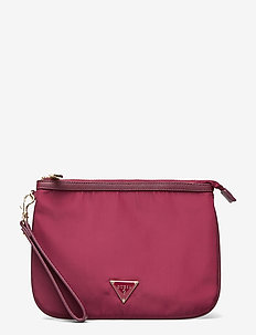 DID I SAY 90S? FLAT TOP ZIP - clutches - burgundy