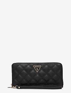 CESSILY SLG LARGE ZIP AROUND - plånböcker - black