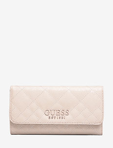QUEENIE SLG POCKET TRIFOLD - wallets - nude