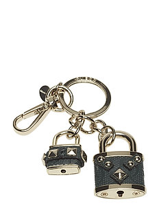 HALLEY DOUBLE LOCK KEYCHAIN - FOREST
