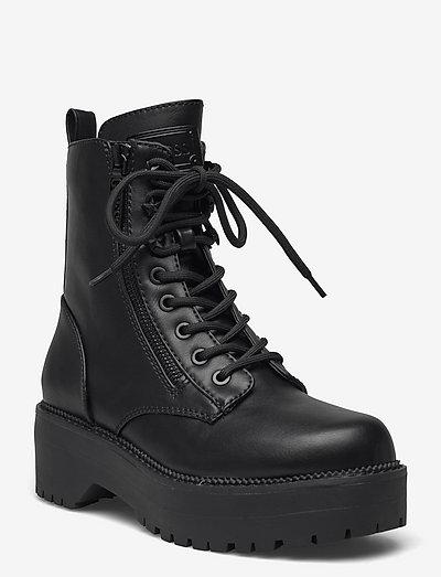 TAYTE2 - platta ankelboots - black