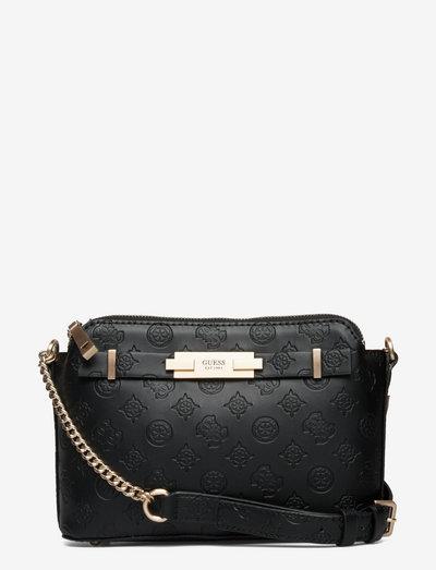 BEA DOUBLE ZIP CROSSBODY - crossbody bags - black