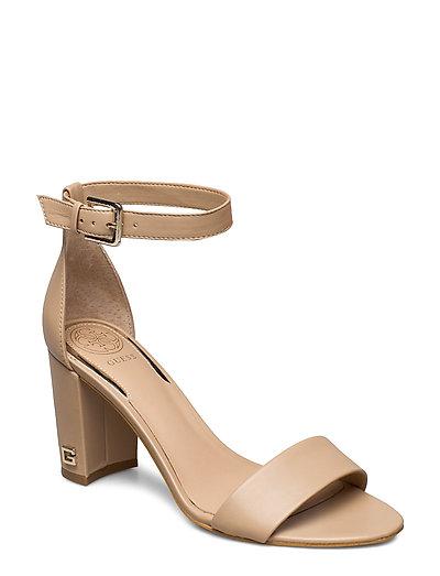 Melisa/Sandalo /Leathe Sandale Mit Absatz Beige GUESS