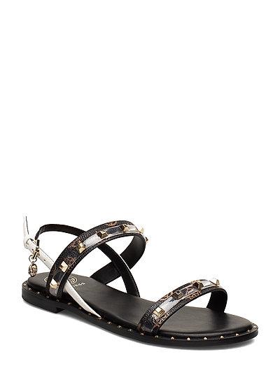 Ofelia Shoes Summer Shoes Flat Sandals Schwarz GUESS