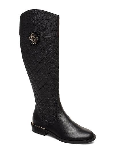 Dabrela/Stivale /Leather Hohe Stiefel Schwarz GUESS