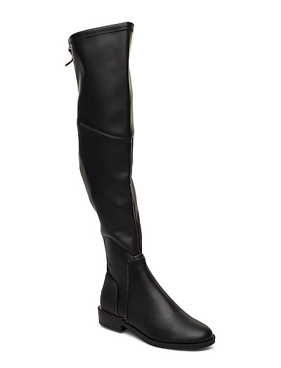 Dacian/Stivale /Leather Hohe Stiefel Schwarz GUESS