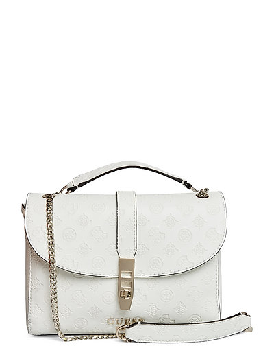 Peony Classic Cvrtble Xbdy Flp Bags Top Handle Bags Weiß GUESS