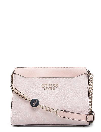 Lorenna Crossbody Top Zip Bags Small Shoulder Bags - Crossbody Bags Pink GUESS