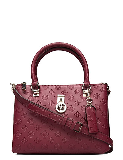 Ninnette Status Satchel Bags Top Handle Bags Rot GUESS | GUESS SALE