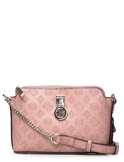 Ninnette Dbl Zip Crossbody Bags Small Shoulder Bags - Crossbody Bags Pink GUESS