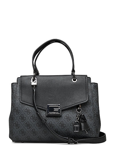 Valy Small Girlfriend Satchel Bags Top Handle Bags Schwarz GUESS