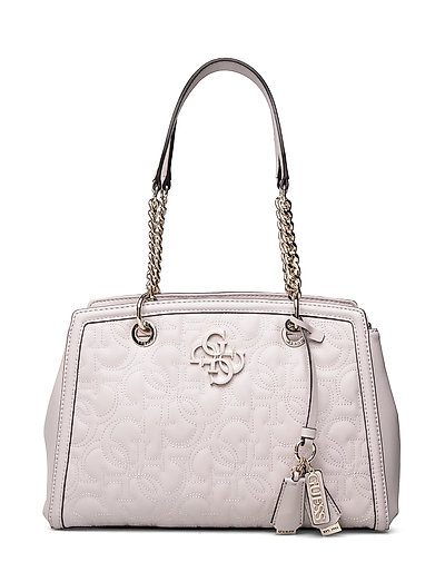New Wave Luxury Satchel Bags Top Handle Bags Creme GUESS
