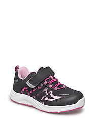 SHOES - BLACK/FUCHSIA