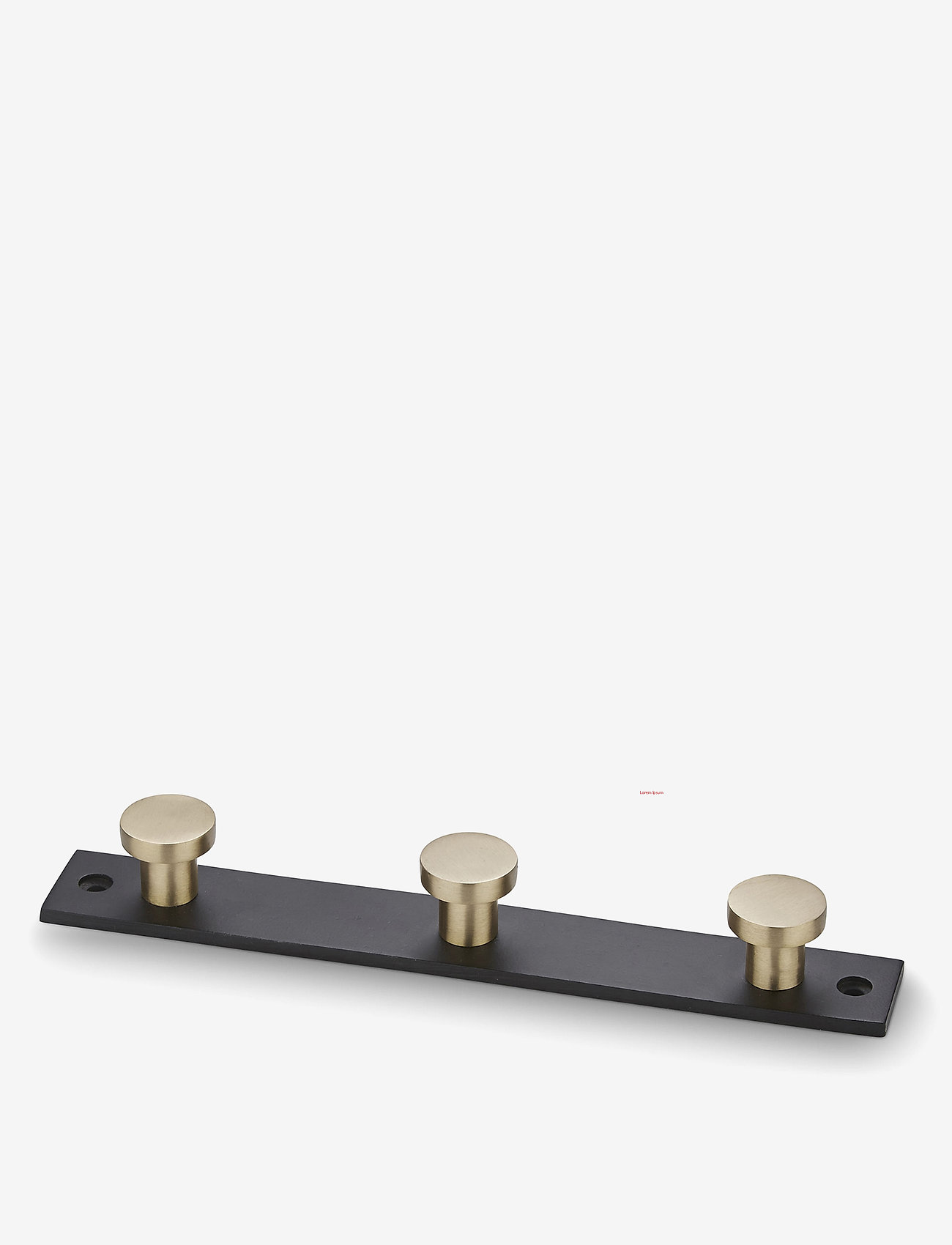 H. Skjalm P. - Knage - knager & knagerækker - black/matt brass - 0