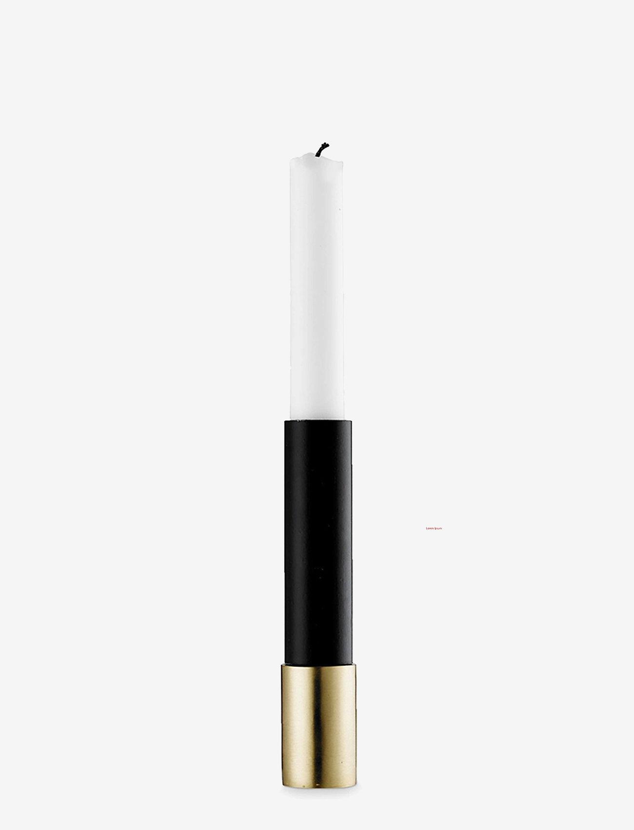 H. Skjalm P. - Upside Down lysestage - lysestager - brass/black - 0