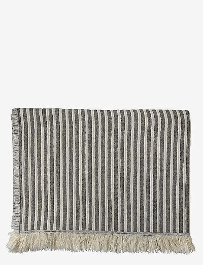 Indy håndklæde - håndklæder - navy/beige