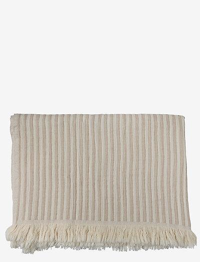 Indy håndklæde - håndklæder - white/beige