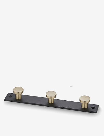 Knage - knager & knopper - black/matt brass