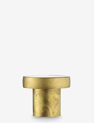 Knage - knager & knopper - raw brass