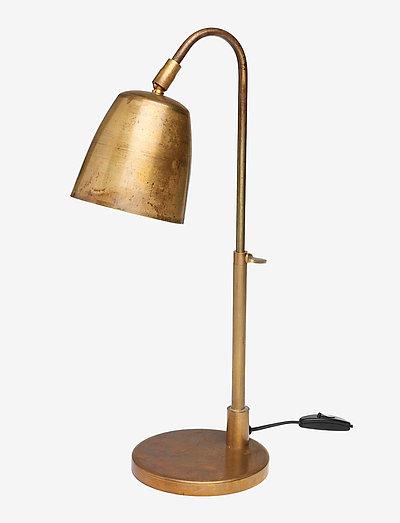 Bordlampe - bordlamper - raw brass