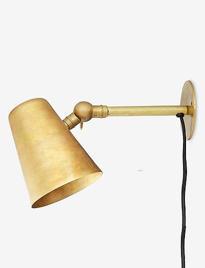 Væglampe - væglamper - raw brass